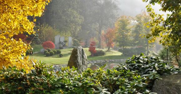 Bonsaigarten des Bonsaizentrums in Seeboden, Österreich