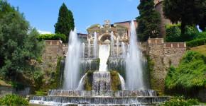 Fontainen und Wasserfall Villa d'Este, Tivoli