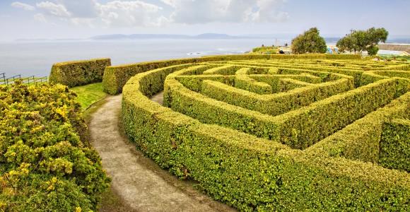 Gartenlabyrinth, La Coruna, Spanien