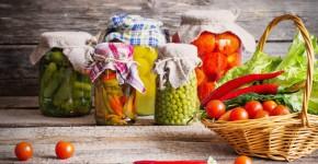 eingekochtes Gemüse