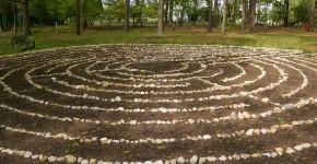 Labyrinth im Wald
