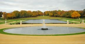 Schloss Chantilly, Blick vom Schloss in den Garten