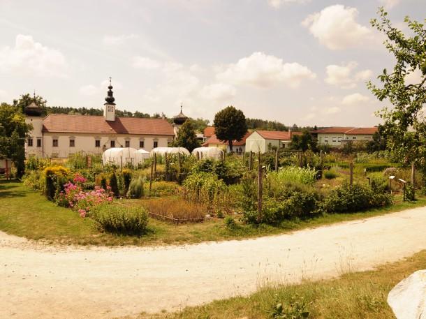 Blick auf Schloss Schiltern