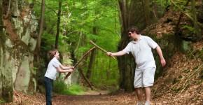 Ritterspiele im Wald