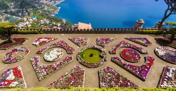 Berühmte Amalfi Küste, Ravello Rufolo Villa, Italien