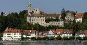 Bodensee mit Schloss Meersburg im Hintergrund