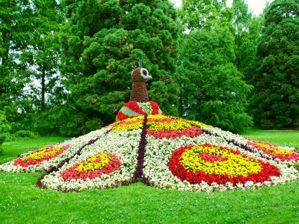 Blumenskulptur, Blumeninsel Mainau, Bodensee, Deutschland