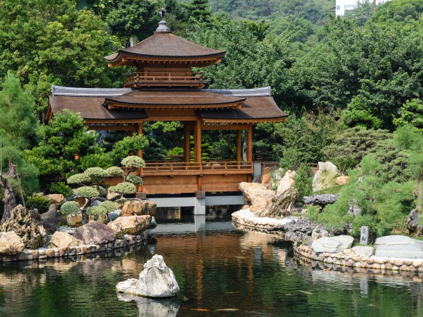 Teehaus im Nan Lian Garten, Hong Kong