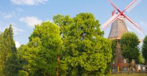Windmühle in Bremen, Deutschland
