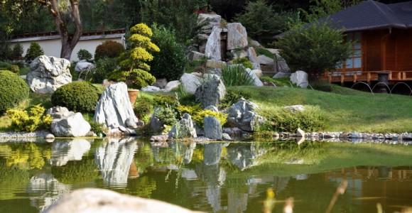 Japanischer Garten des Bonsai Museums Seeboden, Ö.
