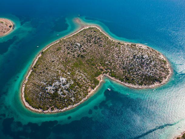 """Region Zadar, Insel Galešnjak, """"Insel der Liebe"""", Kroatien"""