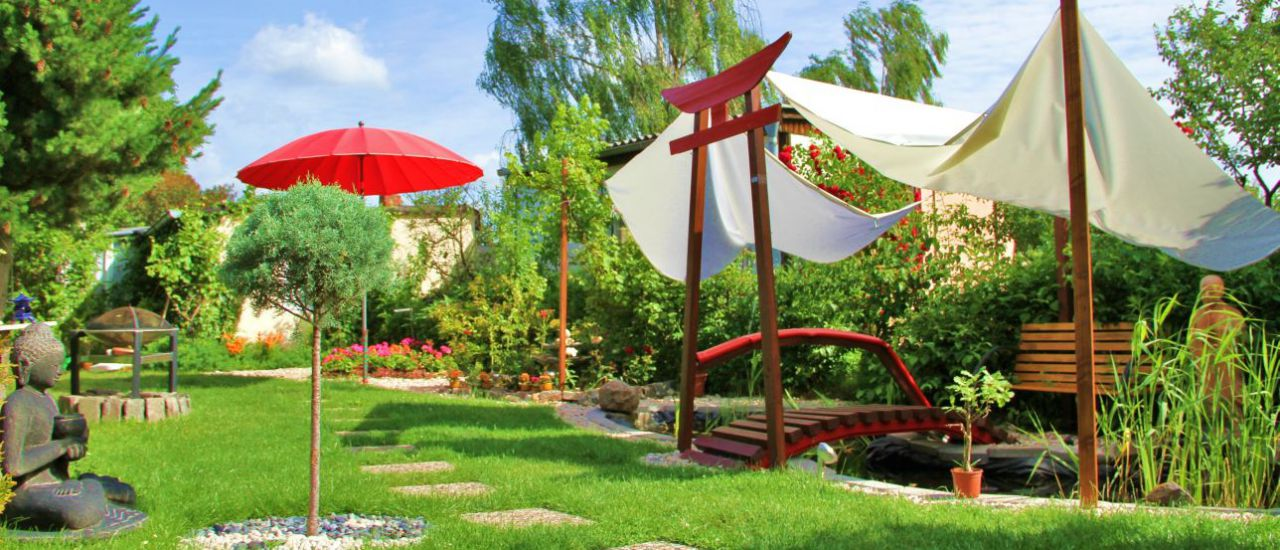 japanische Gartenoase