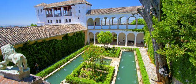 Brunnen und Garten, Generalife Palace, Spanien