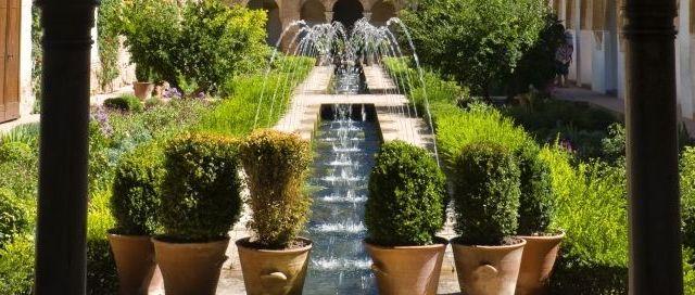 Garten des Palacio Generalife, Spanien