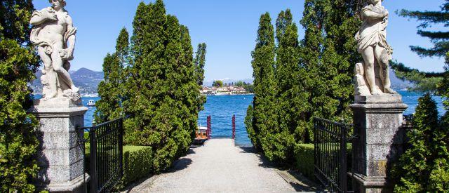 Luxuriöser Eingang der Isola Bella, Italien