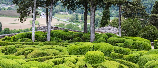 berühmter Knotengarten von Marqueyssac, Frankreich