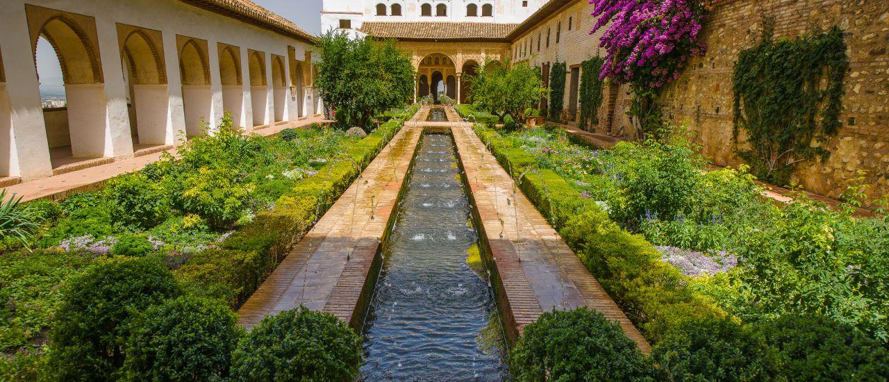 Garten des Palacio de Generalife, Spanien