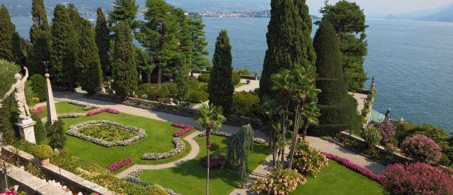 Italienischer Park auf der Isola Bella, Italien